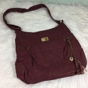 Roxy Womens Boho Purple Suede Bag